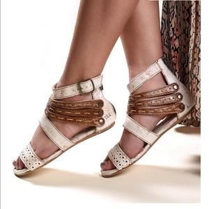 Women's Bed Stu sandals zipper straps